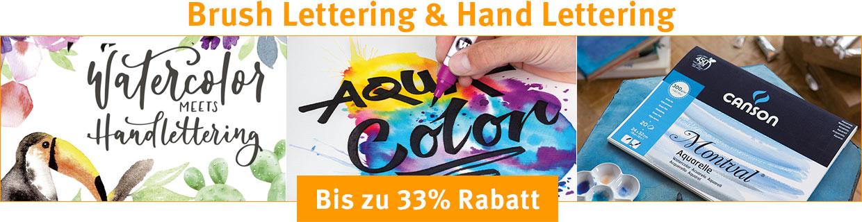 Brush Lettering & Hand Lettering - Bis zu 33% Rabatt!
