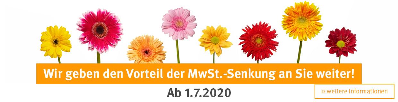 Banner MwSt gesenkt