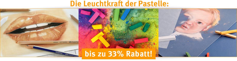 33 Prozent auf Pastelle!