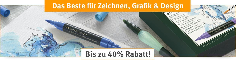 Das Beste für Zeichnen, Grafik & Design - bis zu 40% Rabatt!